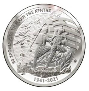 Greece - 10 euro silver, THE BATTLE OF CRETE, 2021
